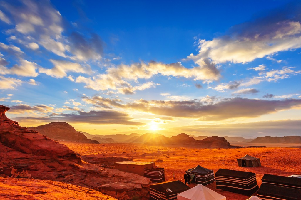 The Valley of the Moon in Wadi Rum