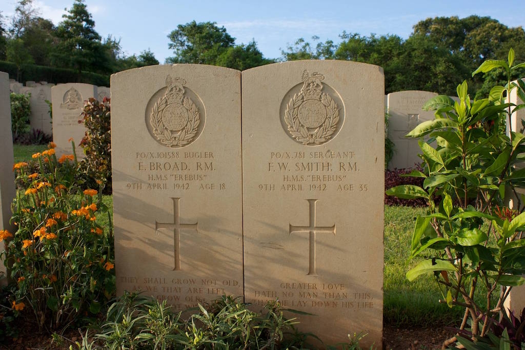 Commonwealth War Cemetery Uppuveli Trincomalee Sri Lanka holiday