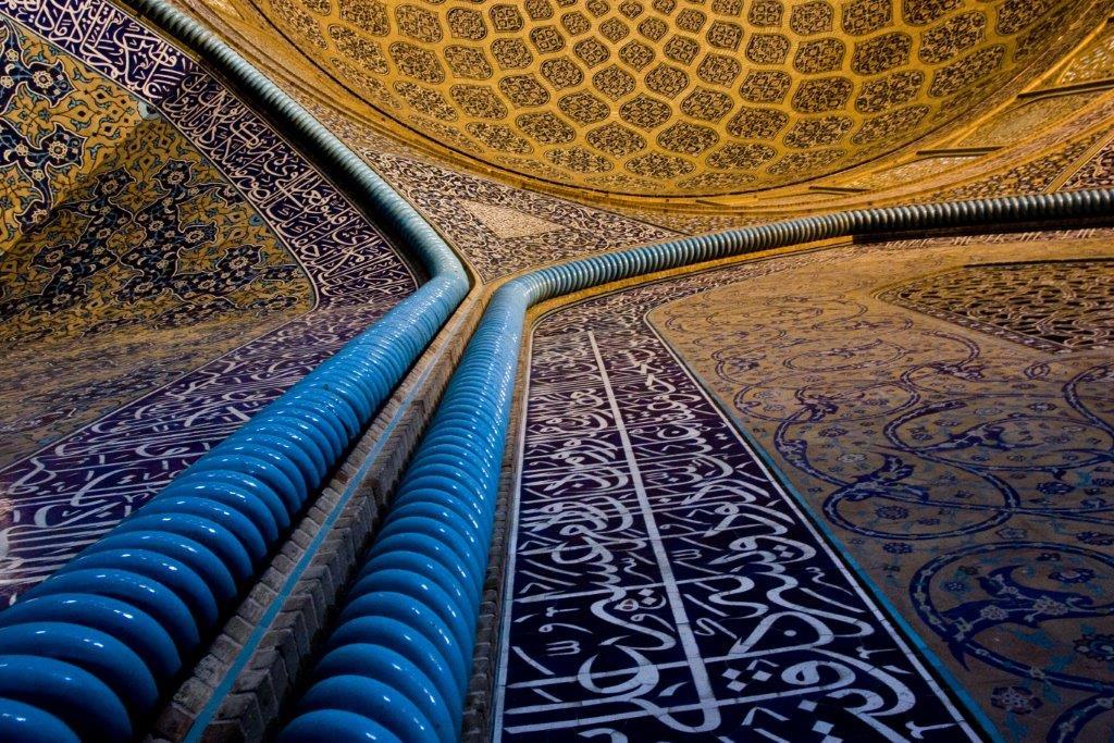 interior of sheikh lotfollah mosque isfahan   tailor made holiday iran