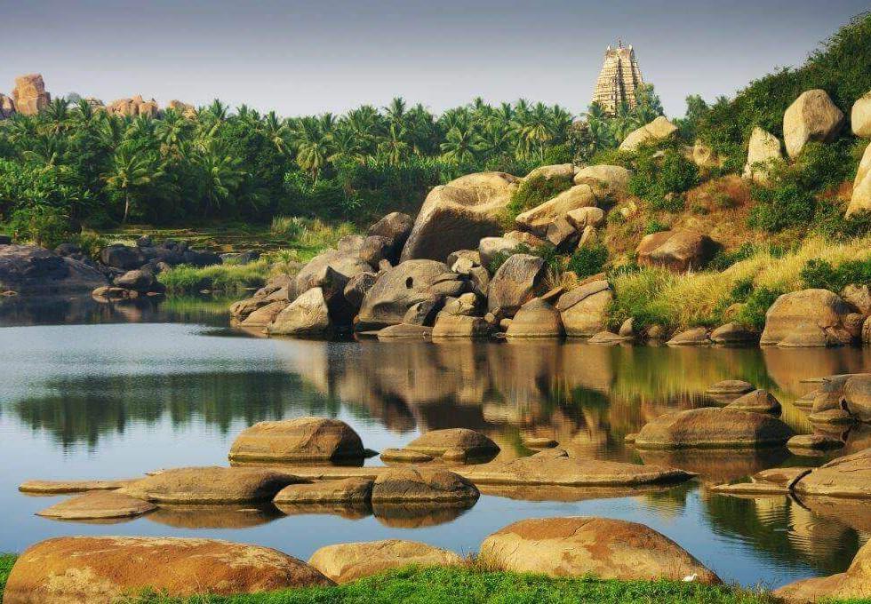 River at Hampi - Luxury Holiday to India