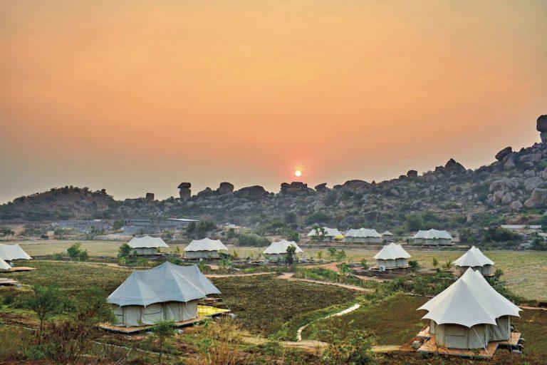 Glamping in Hampi at Kishkinda Luxury Camp