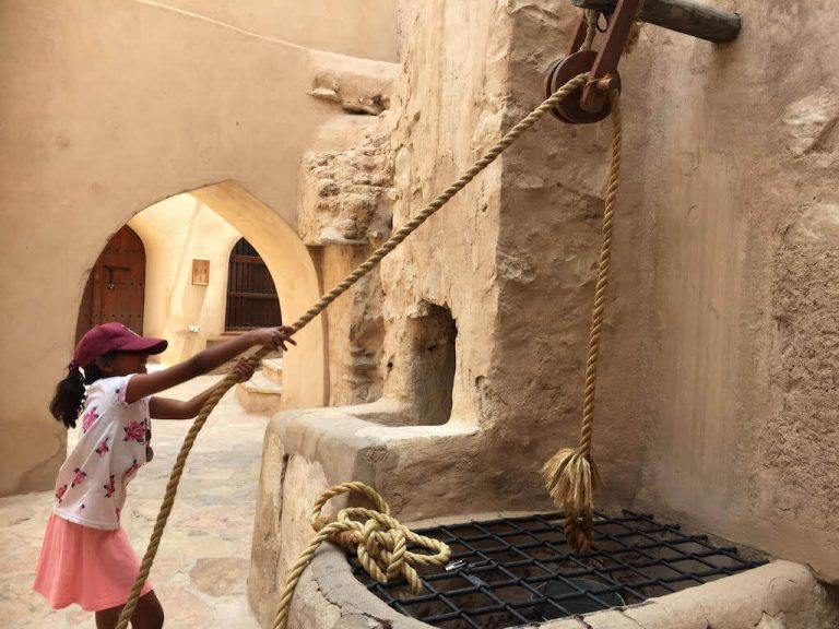 Divya at Nizwa Fort | Family Holiday to Oman