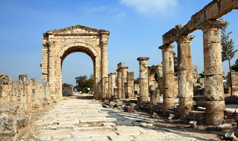 The Roman Triumphal Arch and Road (Tyre- Lebanon)