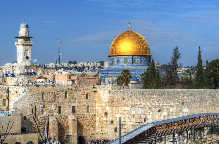 The best countries to combine with Jordan on a tailor made luxury holiday | Western Wall and Dome of the Rock, Jerusalem, Israel