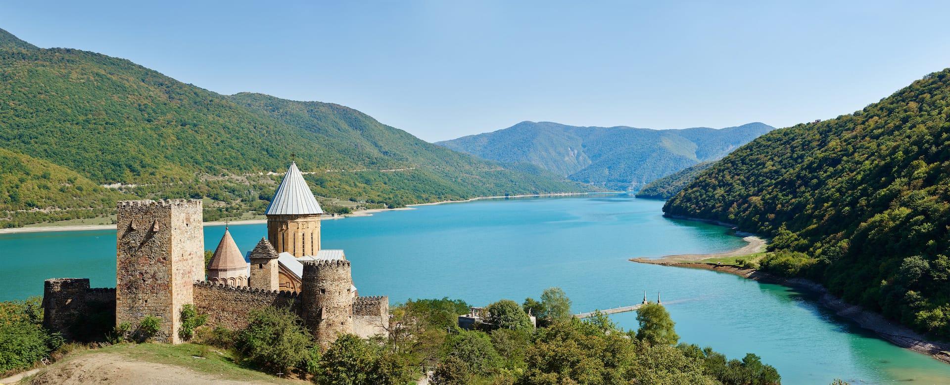 Introducing Georgia - Ananuri Church   Tailor Made Holidays to the Caucasus