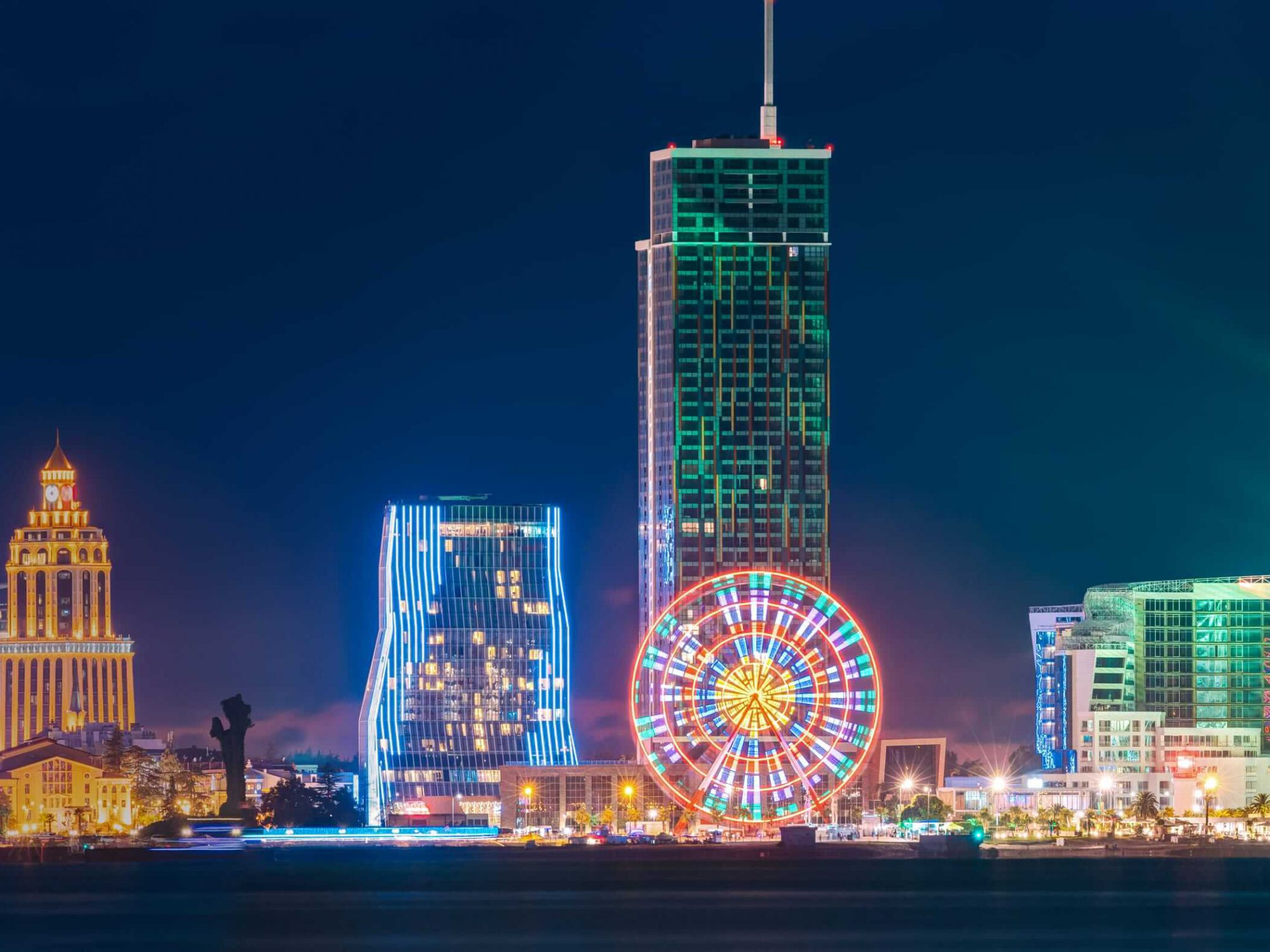 Batumi skyline at night