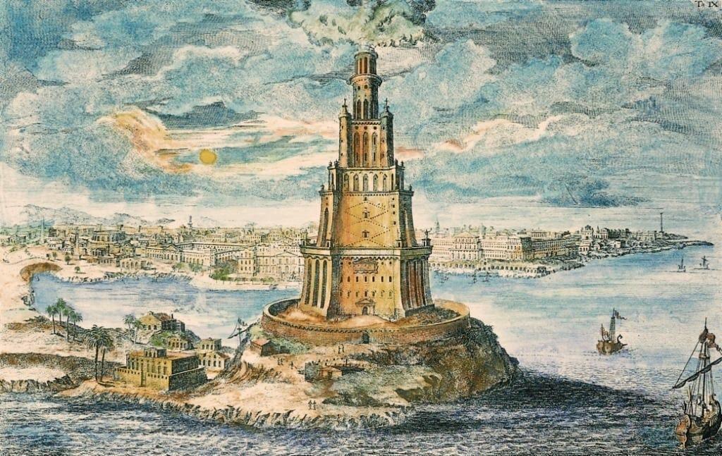 Pharos of Alexandria in ancient Alexandria
