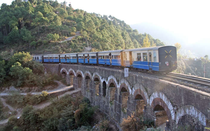Ride a vintage British train on a tailor made holiday to the Himalaya in India