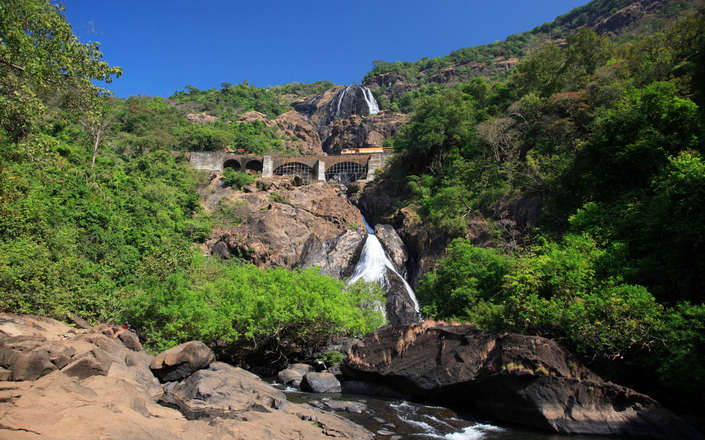 Visit Dudhsagar Falls (Sea of Milk) on a tailor-made holiday to Goa, India