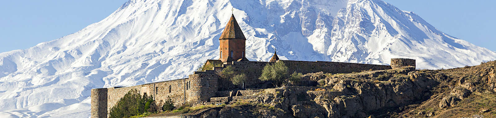 Witness the beautiful view of Khor Virap and Mount Ararat on a luxury private holiday to Armenia