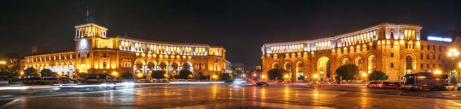 See Yerevan by night on a private luxury holiday to Armenia