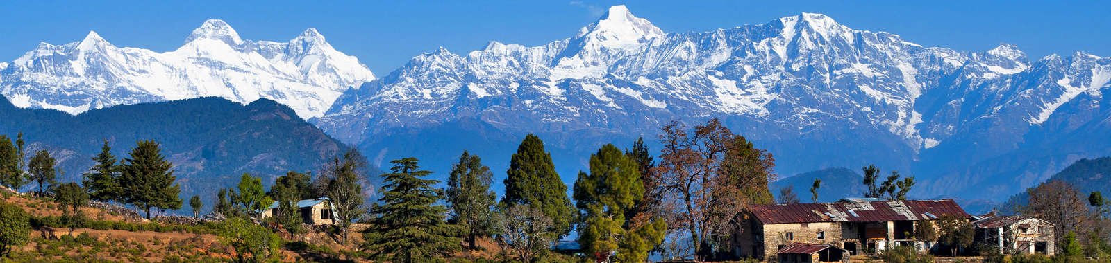 Enjoy panoramic views of Himalayan villages on a luxury tailor-made holiday to north India