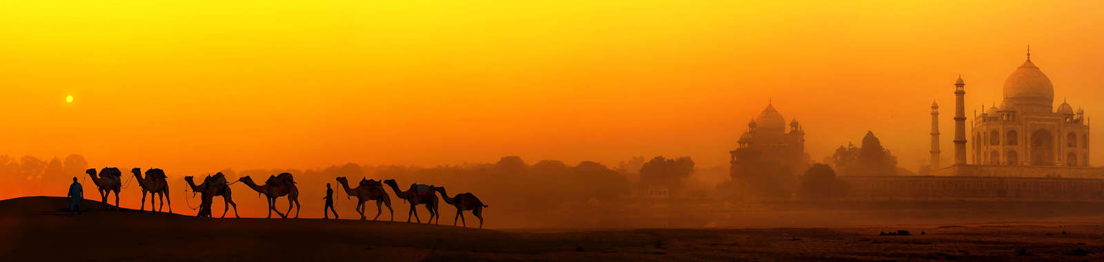 Witness sunrise at the Taj Mahal on a luxury tailor-made holiday to north India