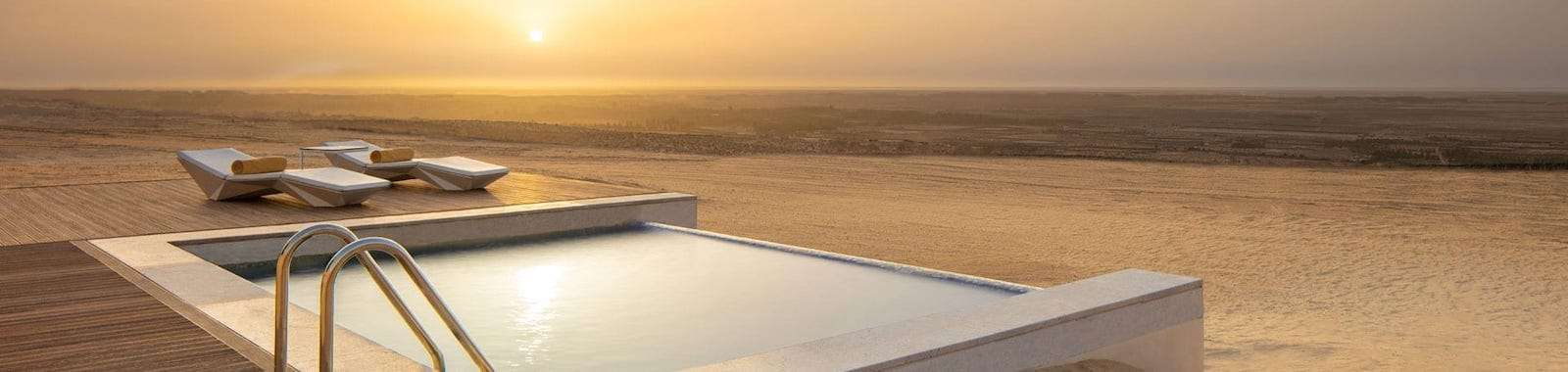 Private pool at the Anantara Tozeur Resort - the best place to stay in southern Tunisia