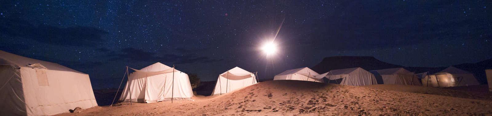 Under the stars at Camp Mars, Grand Erg Oriental, Sahara, Tunisia