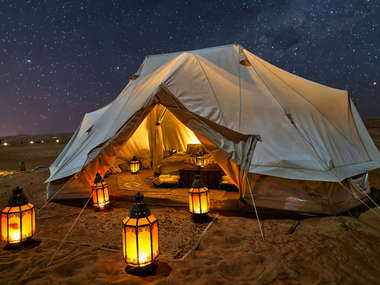 For the ultimte Oman glaming experience stay at the Canvas Club private camp.