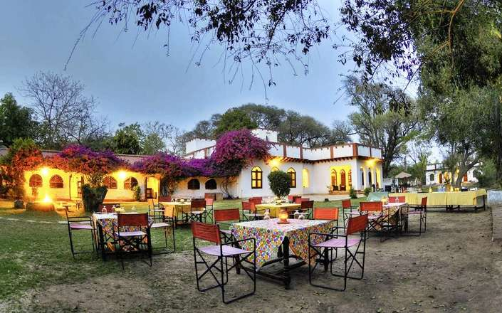 For a relaxing alternative to Agra, stay at Chambal Safari Lodge, an eco-lodge set in woodland