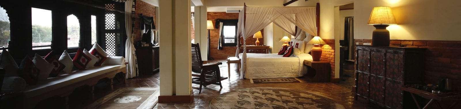 Stay at the luxury boutique hotel Dwarika's in Kathmandu