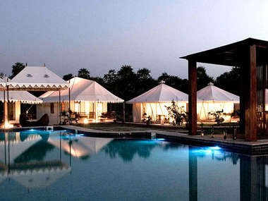 In Pushkar stay at the tranquil, eco-friendly Green House Resort