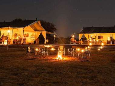 Stay at Jawai Leopard Camp, set in stunning wilderness half-way between Jodhpur and Udaipur