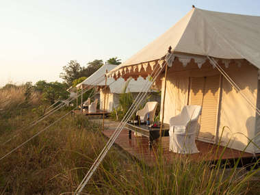 Stay at Khem Villas, a colonial-style wildlife lodge, a short drive to Ranthambore National Park