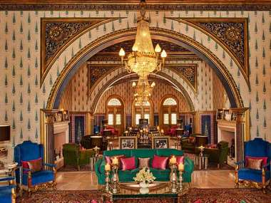 In Rajasthan stay at the stately Raj Mahal Palace in Jaipur
