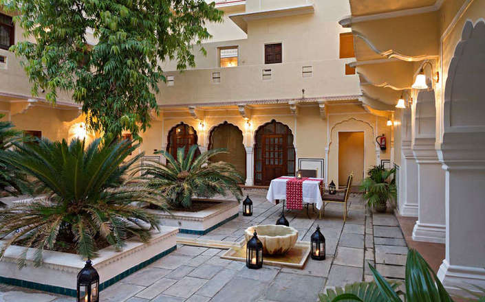 Stay at Samode Haveli in Jaipur, a heritage hotel in Rajasthan