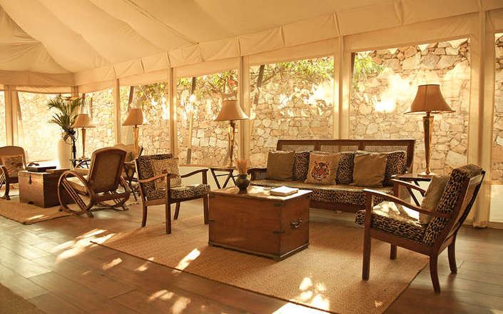 In Ranthambore National Park stay at Sher Bagh, an eco-friendly camp with a relaxed atmosphere