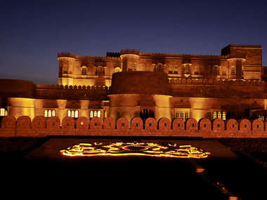 Stay at Suryagarh, a fort-like-hotel just outside Jaisalmer in Rajasthan