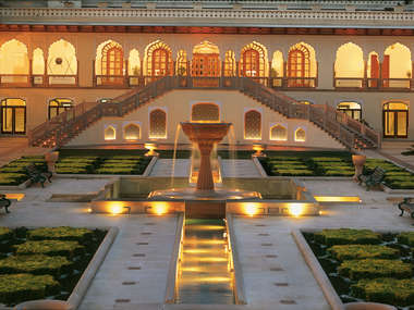 Taj Rambagh Palace in Jaipur, Rajasthan, India