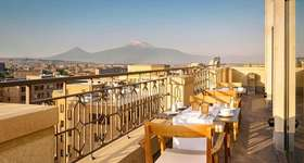 View from the restaurant of The Alexander Hotel in Yerevan, Armenia