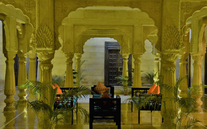 In Jaisalmer stay at The Gulaal, a haveli-style boutique hotel
