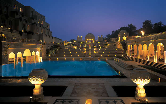 In Agra stay at The Oberoi Amarvilas, a luxury hotel with views of the Taj Mahal