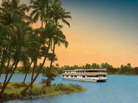 In Kerala, take a backwater cruise on the luxurious Oberoi Vrinda