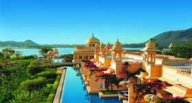 In Udaipur stay at the Oberoi Udaivilas, a luxury retreat