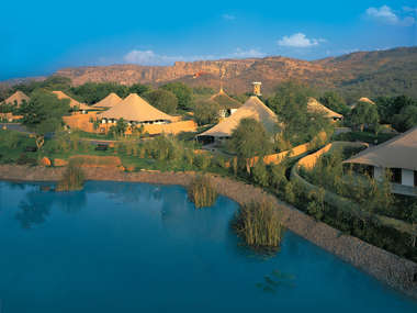 In Ranthambore National Park stay at the Oberoi Vanyavilas, a world-class luxury jungle camp