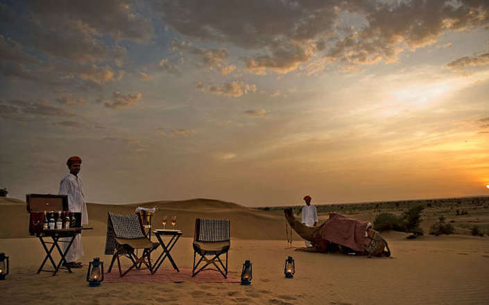 Stay at the Serai Jaisalmer a luxury boutique desert camp