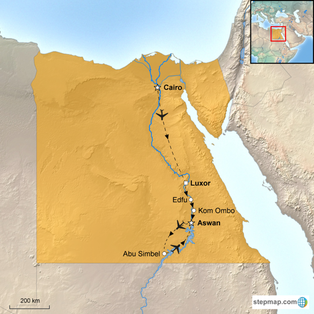stepmap-karte-egypt-dahabiya-nile-cruise-1579313