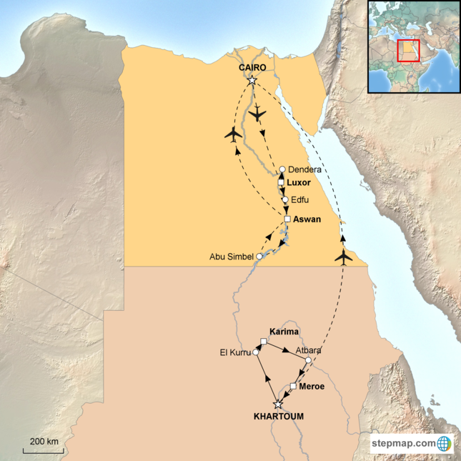 stepmap-karte-egypt-sudan-the-two-lands-16501881