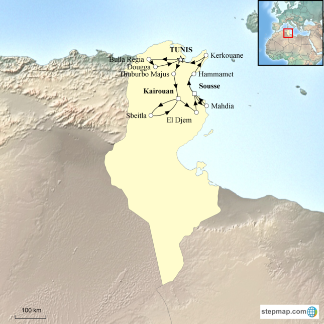 stepmap-karte-grand-tour-of-tunisia-1620974