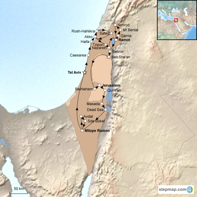 stepmap-karte-grand-tour-of-israel-1525480