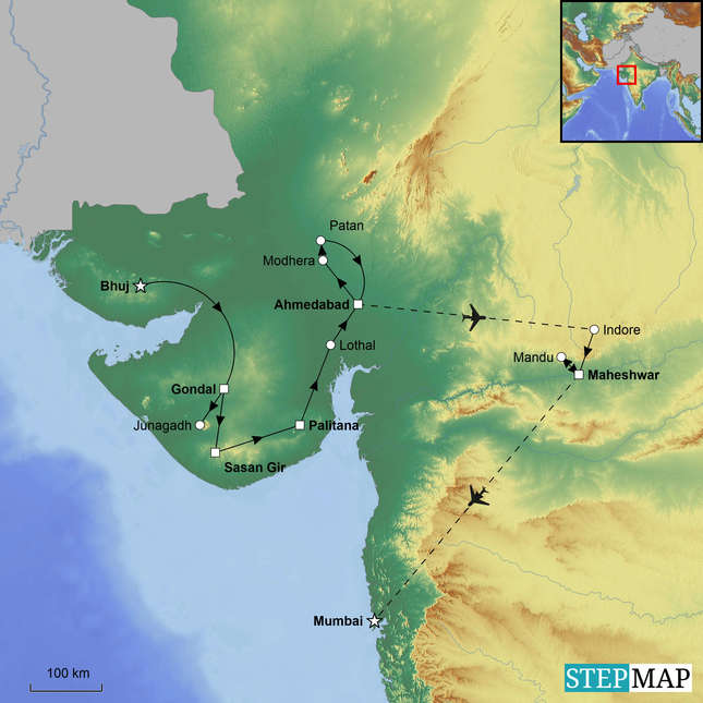 StepMap-Map-Gujarat-and-Ahilya-Fort
