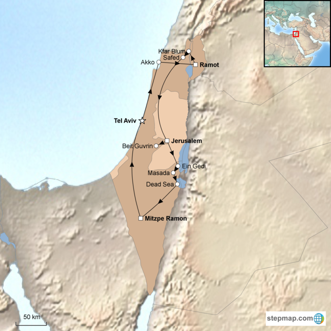 stepmap-karte-israel-family-holiday-15254741