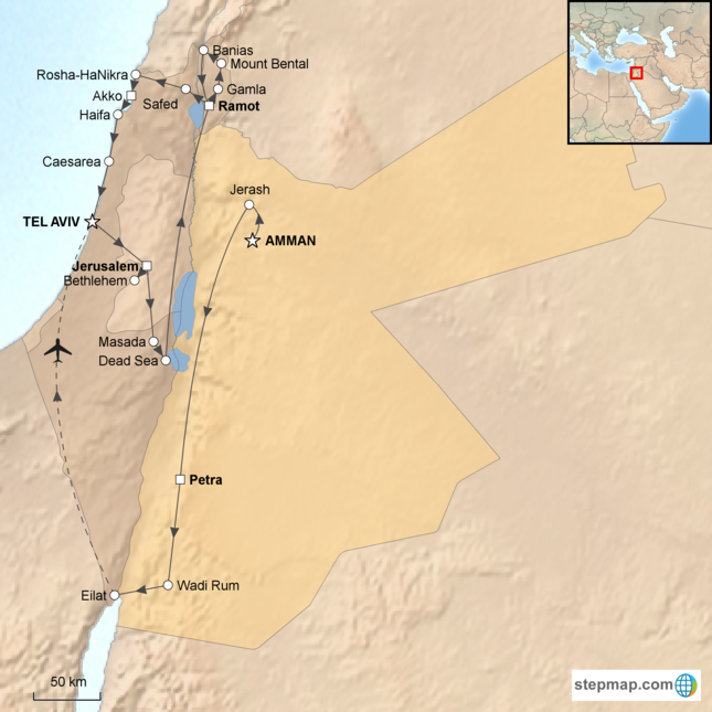 stepmap-karte-israel-and-jordan-holy-lands-1525499