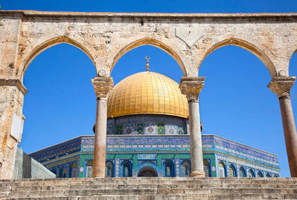 Travel through Jordan to holy Jerusalem on this classic Near Eastern journey.