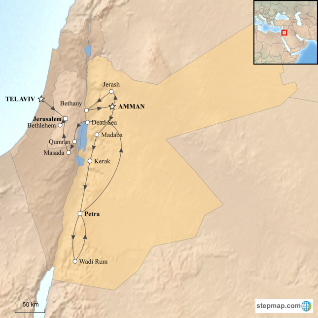 Tel Aviv Jerusalem Karte.Jordan And Jerusalem Tour Corinthian Travel