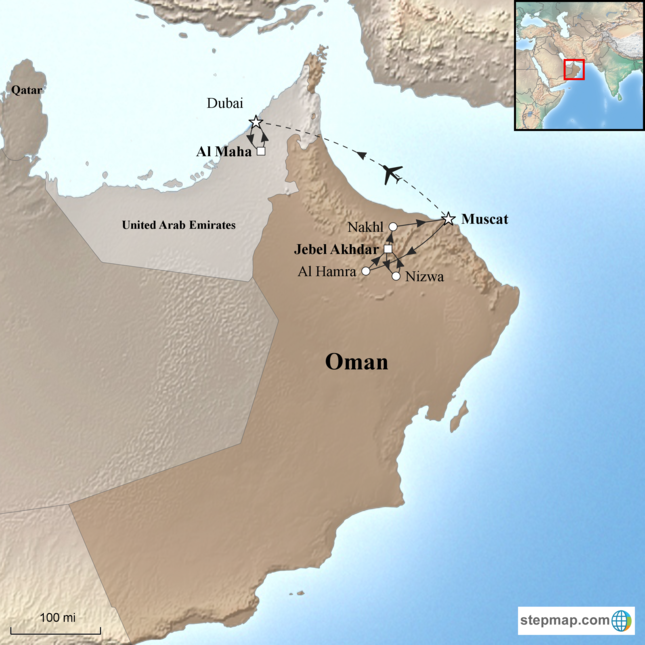 Karte Oman.Oman Al Maha Luxury Private Tour Corinthian Travel