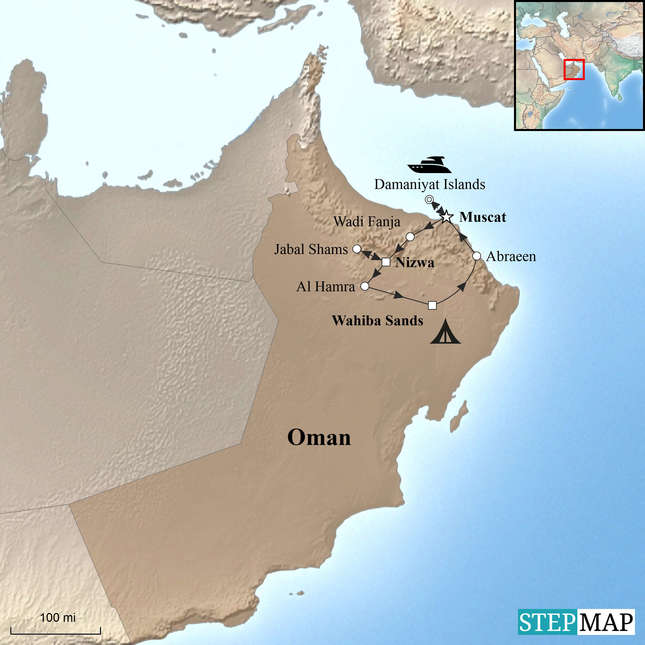 StepMap-Map-Oman-Family-Holiday-with-Teenagers