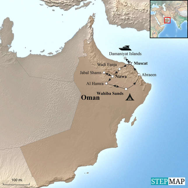 StepMap-Map-Oman-Family-Holiday-with-Teenagers1