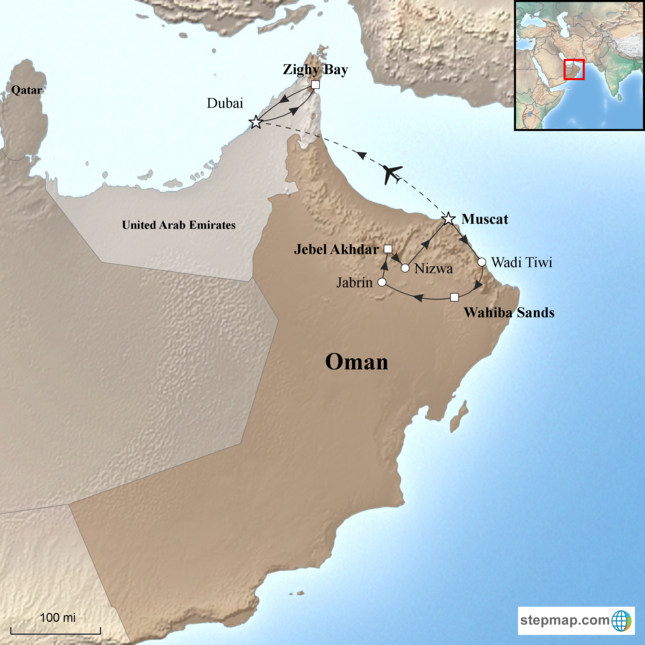 stepmap-karte-oman-and-zighy-bay-1561978